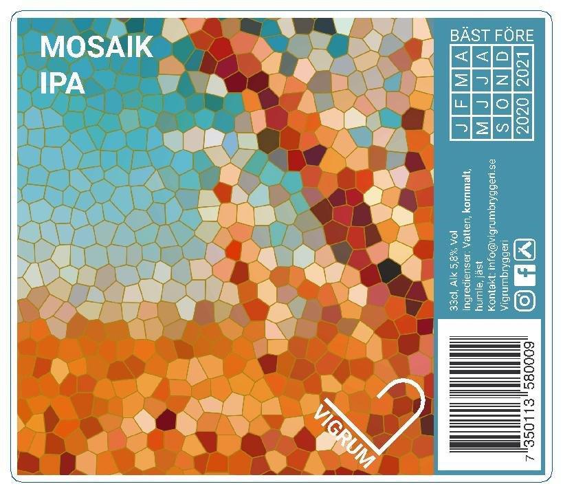 Mosaik-IPA-Vigrum bryggeri_Nordvalls Etikett